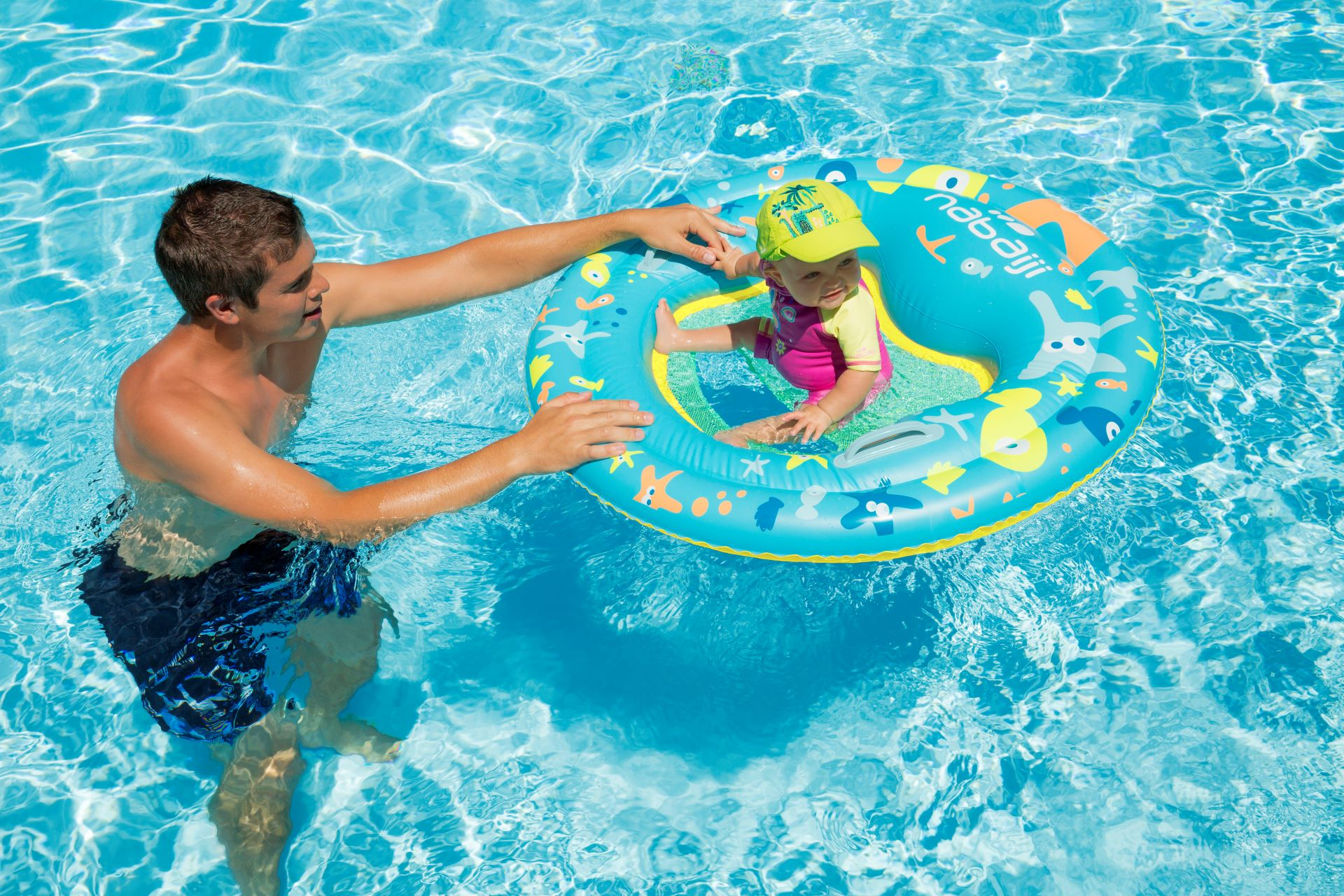 Baby Swim Lessons - Discovering The Water Environment